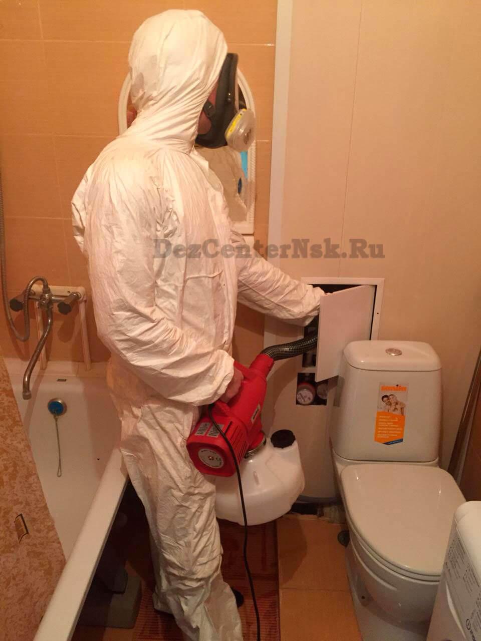 обработка службой СЭС Новосибирск