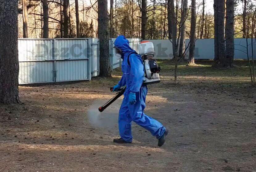 обработка участка от комаров Новосибирск
